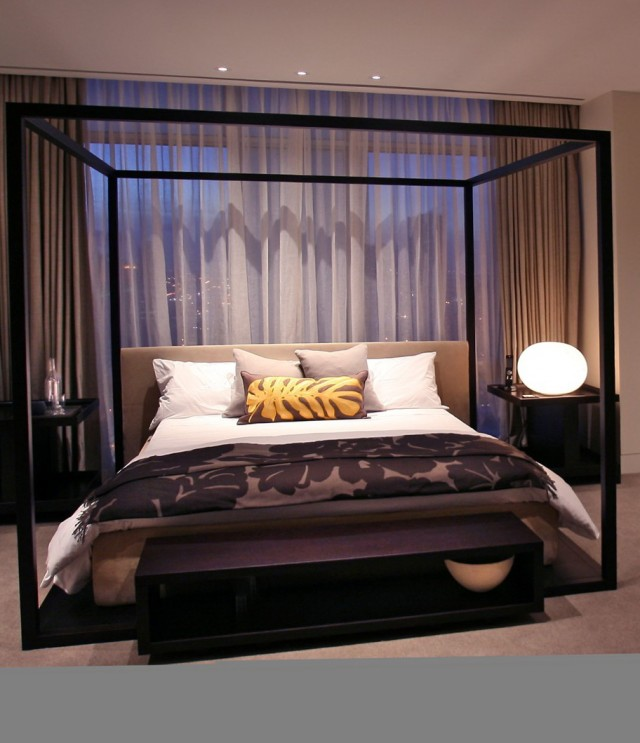 Canopy Bed Curtains From Ceiling