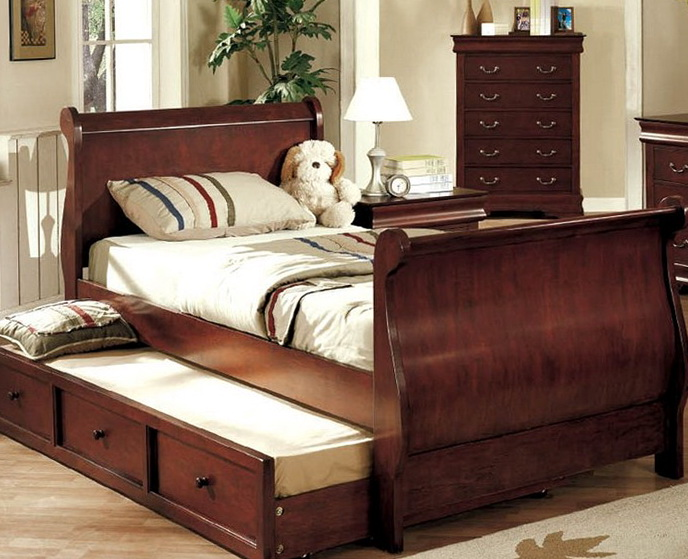 Captains Bed Twin With Trundle