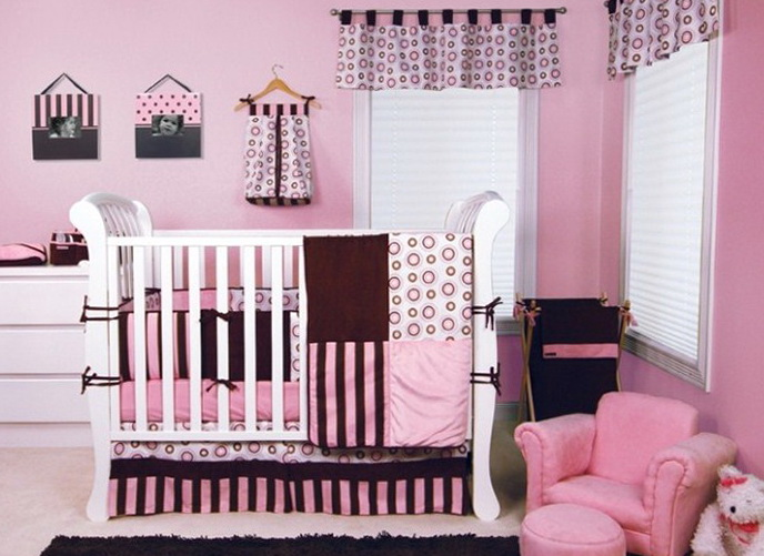 Chevron Baby Girl Nursery Bedding
