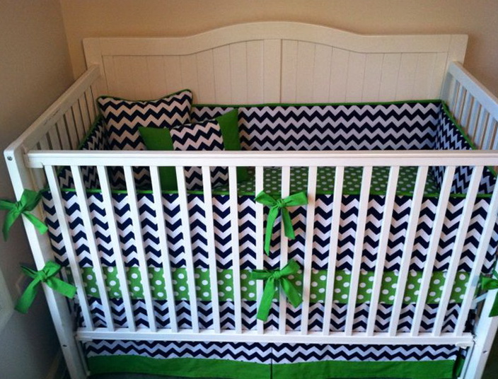 Chevron Crib Bedding For Boys