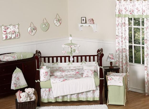 Chic Baby Girl Nursery Bedding