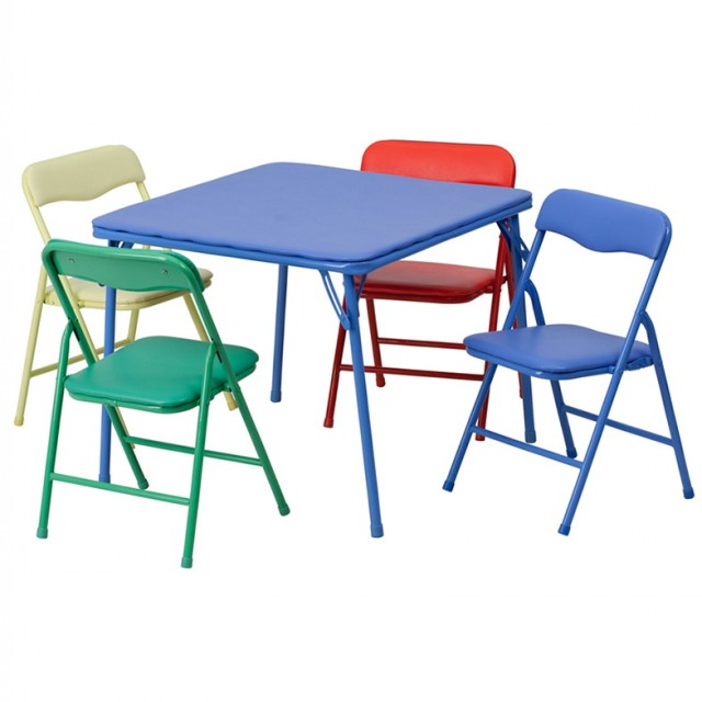 Child Folding Table And Chairs