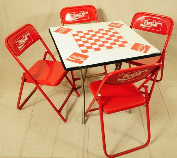 Coca Cola Pub Table And Chairs