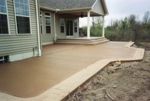Colored Concrete Patio Cost