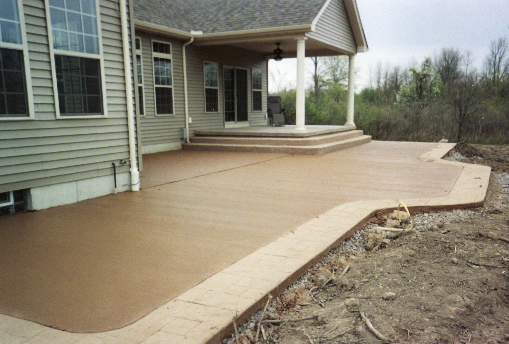 Colored Concrete Patio Cost