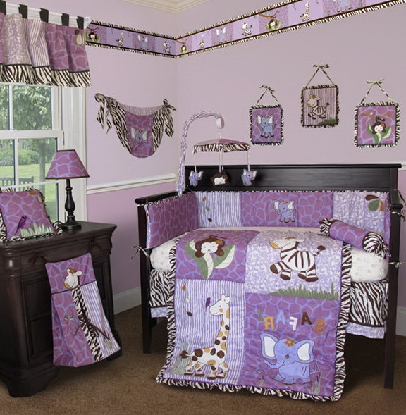Crib Bedding For Girls Purple