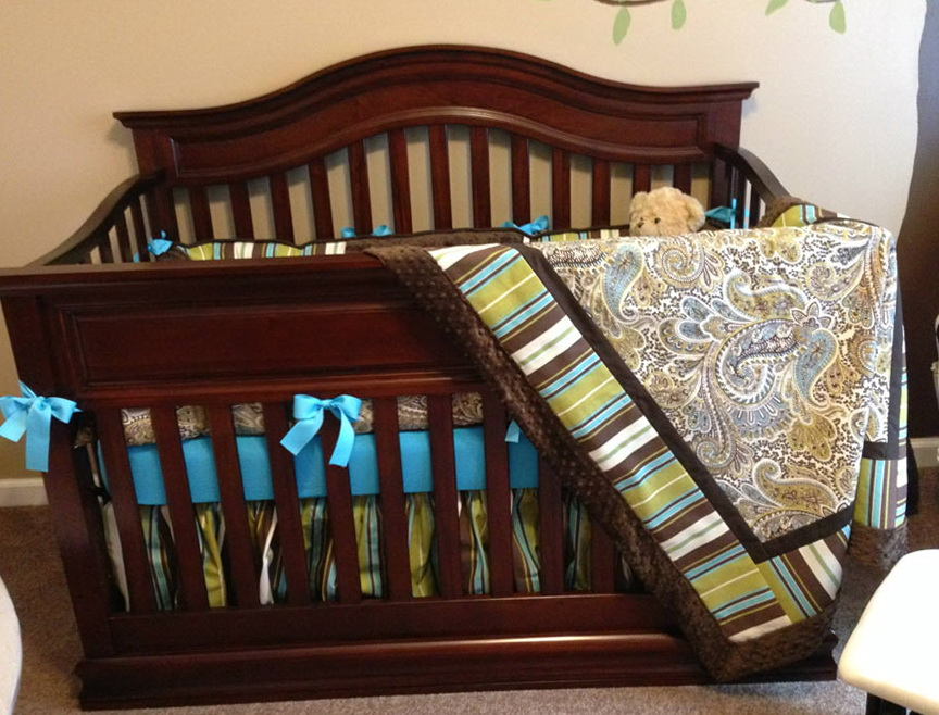 Custom Crib Bedding For Boys