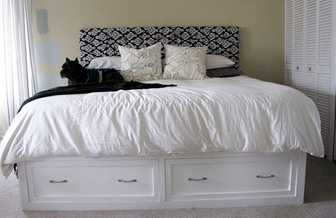 Diy Bed Frame With Storage Drawers