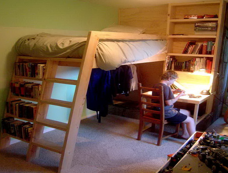 Diy Loft Bed With Desk