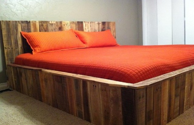 Diy Platform Bed Rustic