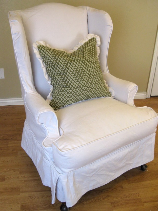 Diy Wing Chair Slipcover