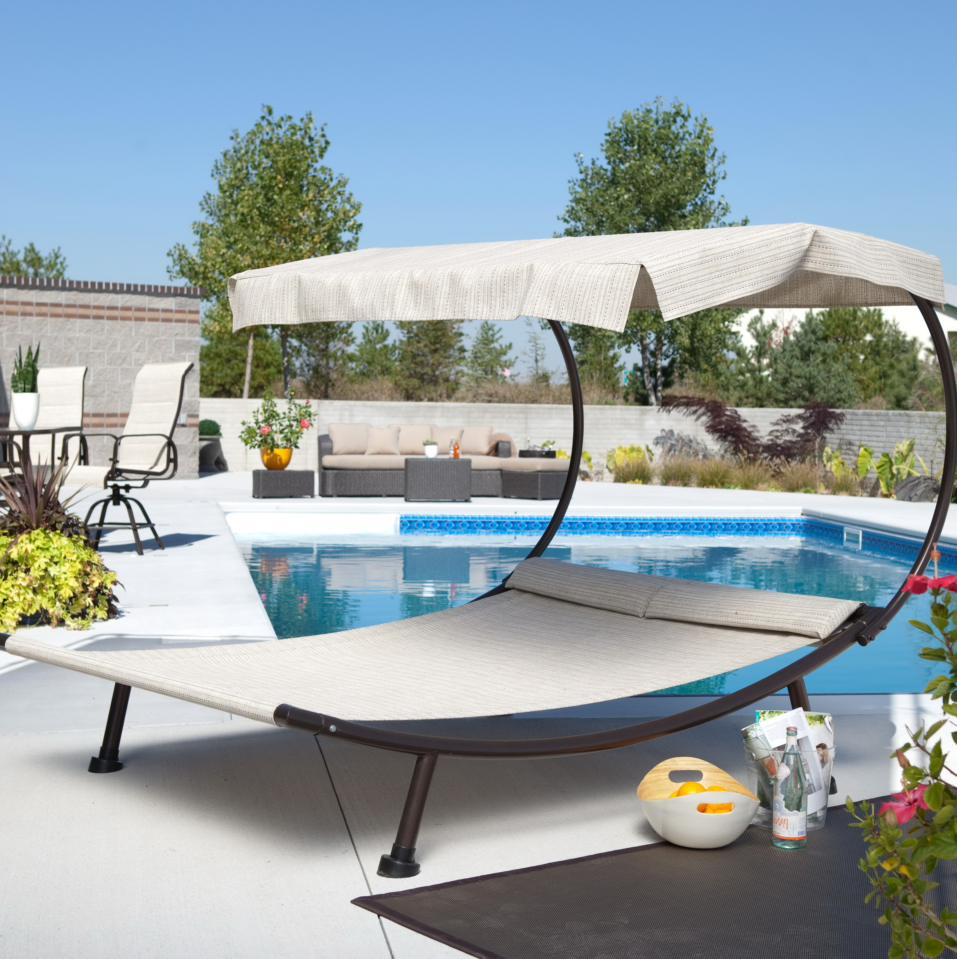 Double Patio Chaise Lounge