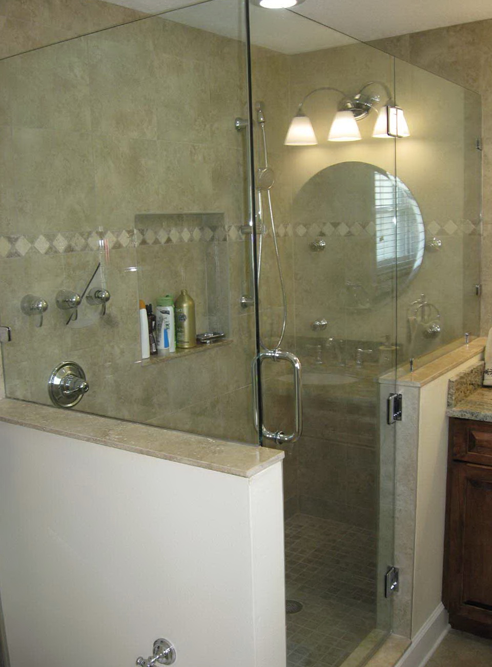 Frameless Shower Doors Knee Wall