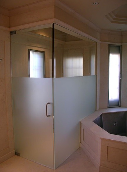 Frameless Shower Doors Patterned Glass