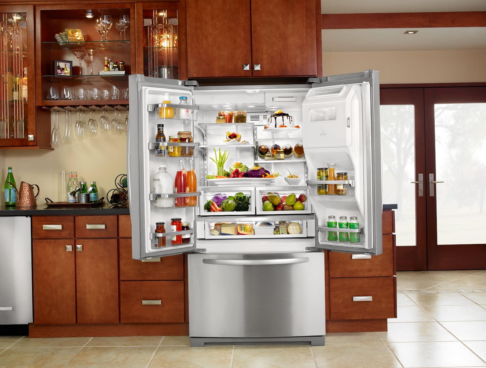 French Door Refrigerator In Kitchen