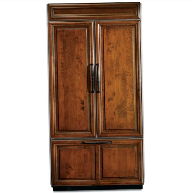 French Door Refrigerator Wood Panels
