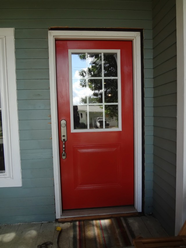 Front Door Colors For Green House