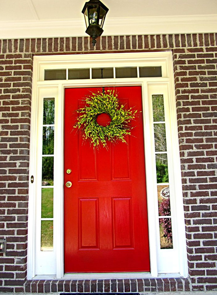 Front Door Colors With Red Brick