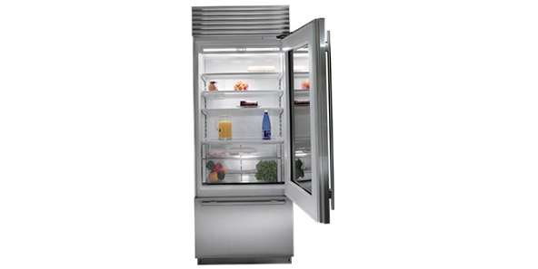 Glass Door Refrigerator With Freezer