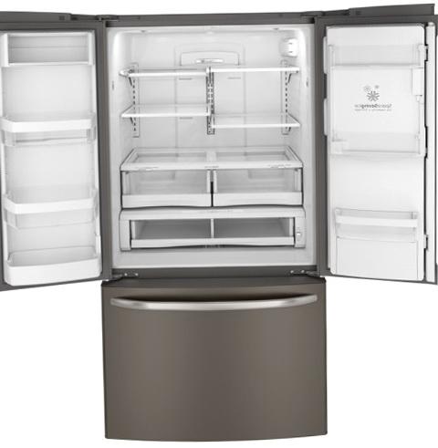 Glass Door Refrigerator With Ice Maker