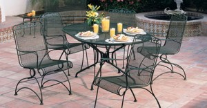 Green Metal Patio Furniture