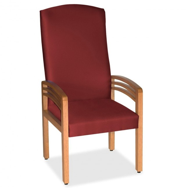 High Back Chair With Arms