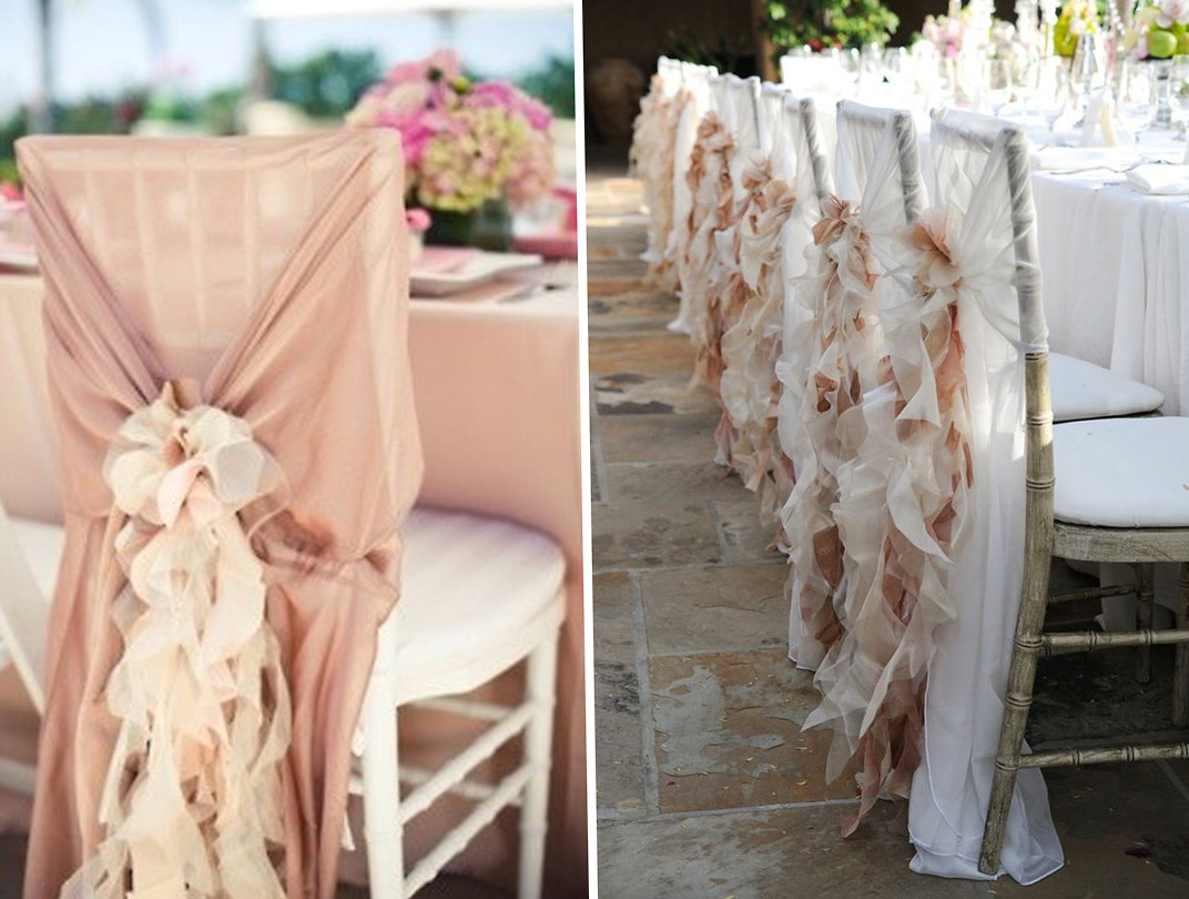 How To Dress Up Metal Folding Chairs For A Wedding