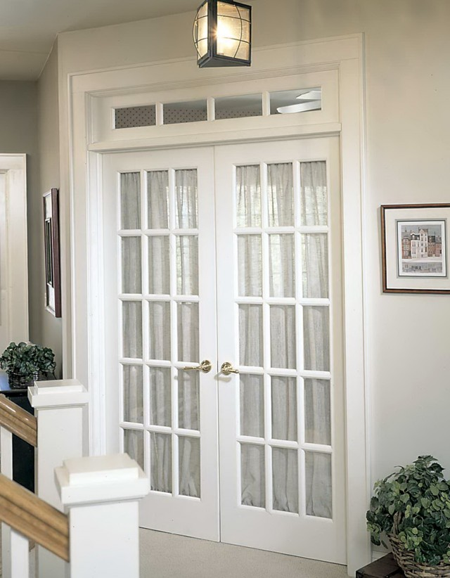 Interior French Doors Transom