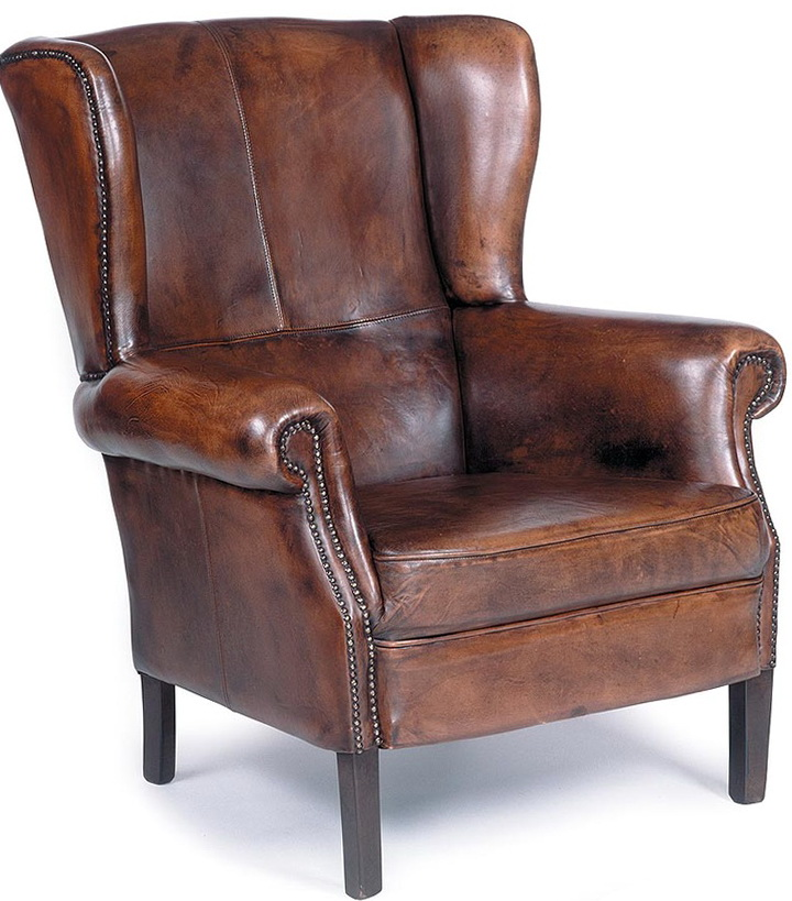 Leather Club Chair Nailhead Trim