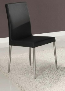 Leather Dining Chairs Metal Legs