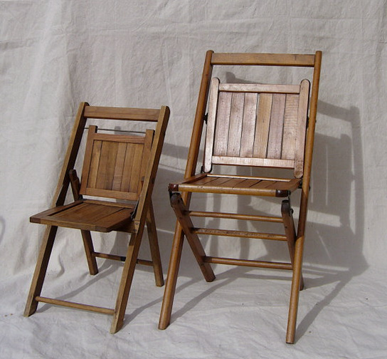 Old Wooden Folding Chairs
