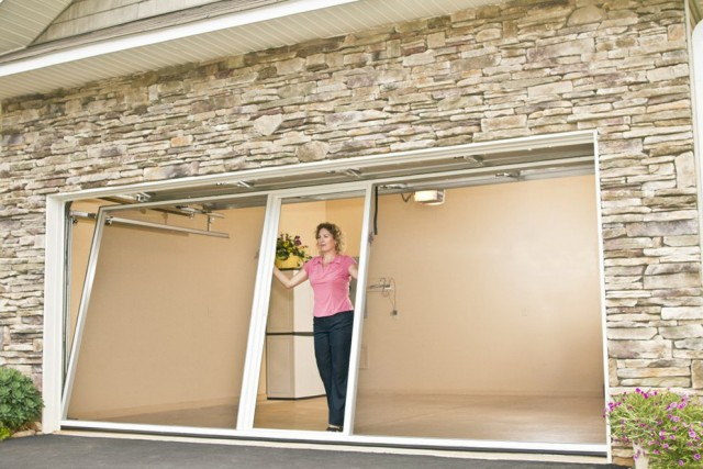 Overhead Garage Door With Man Door