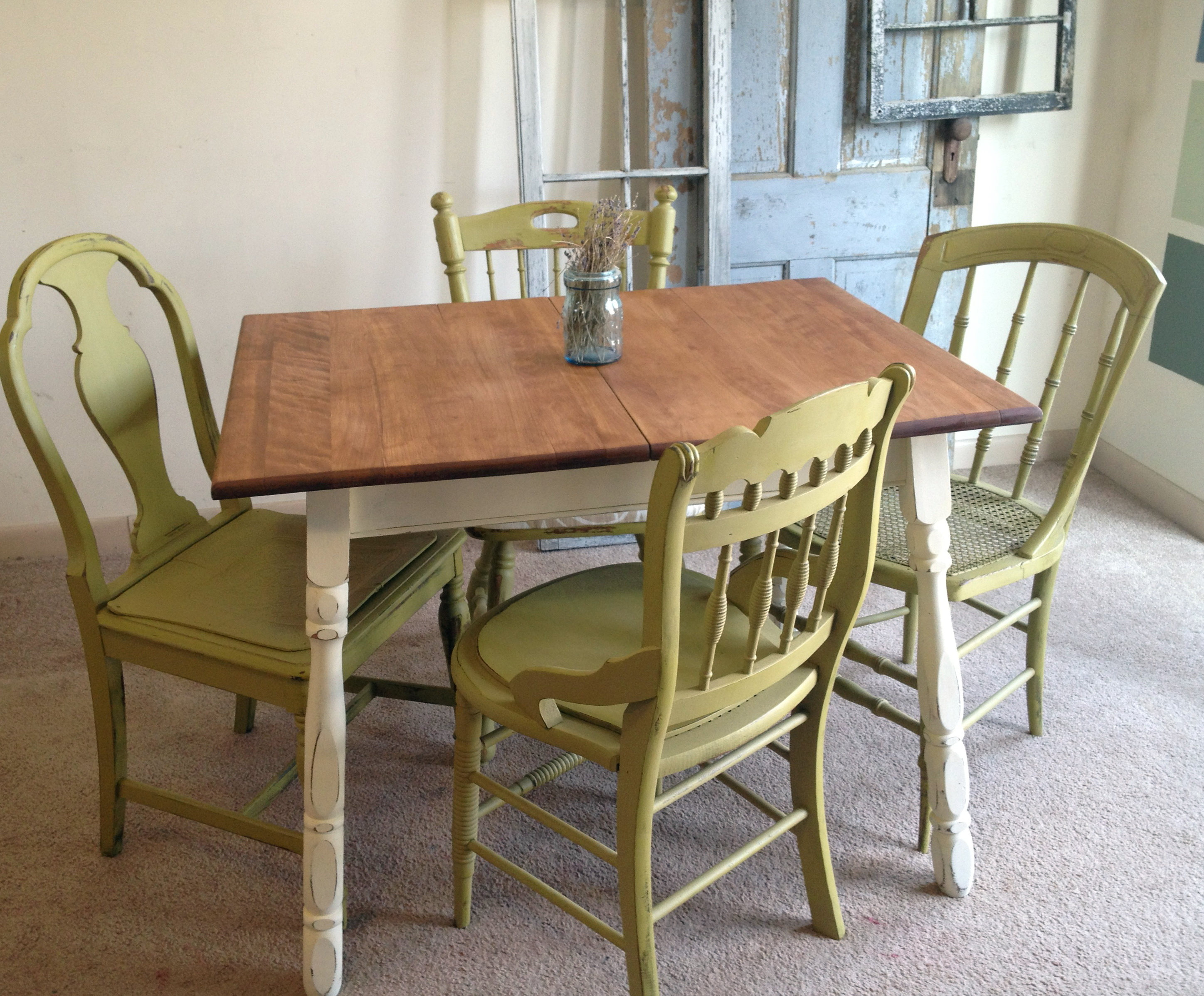 Painted Kitchen Tables And Chairs
