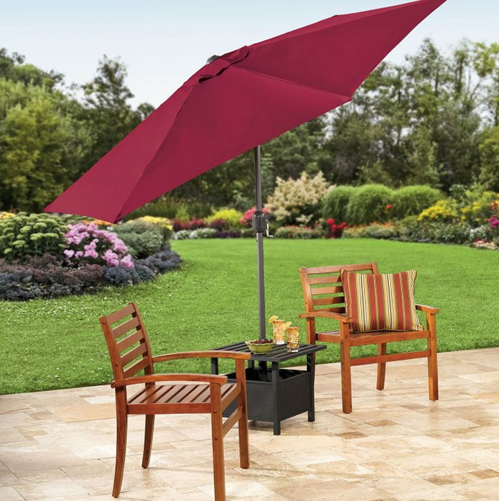 Patio Umbrella Stand Side Table