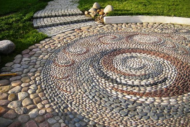 Pebble Stone Patio Ideas