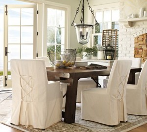 Pottery Barn Dining Chair Slipcovers