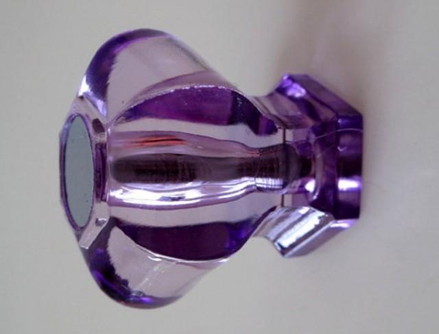 Purple Glass Door Knobs