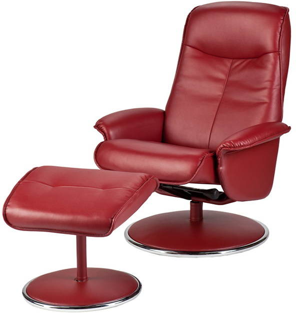 Red Leather Recliner Chairs