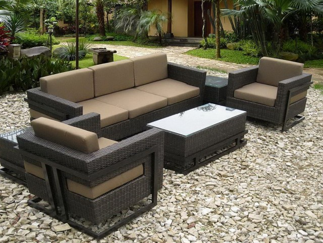 Resin Wicker Patio Furniture Sunbrella
