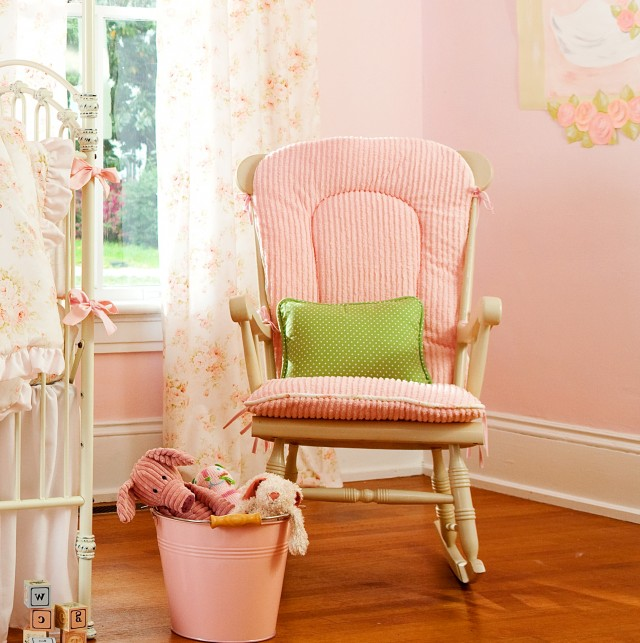 Rocking Chair Pads Pink