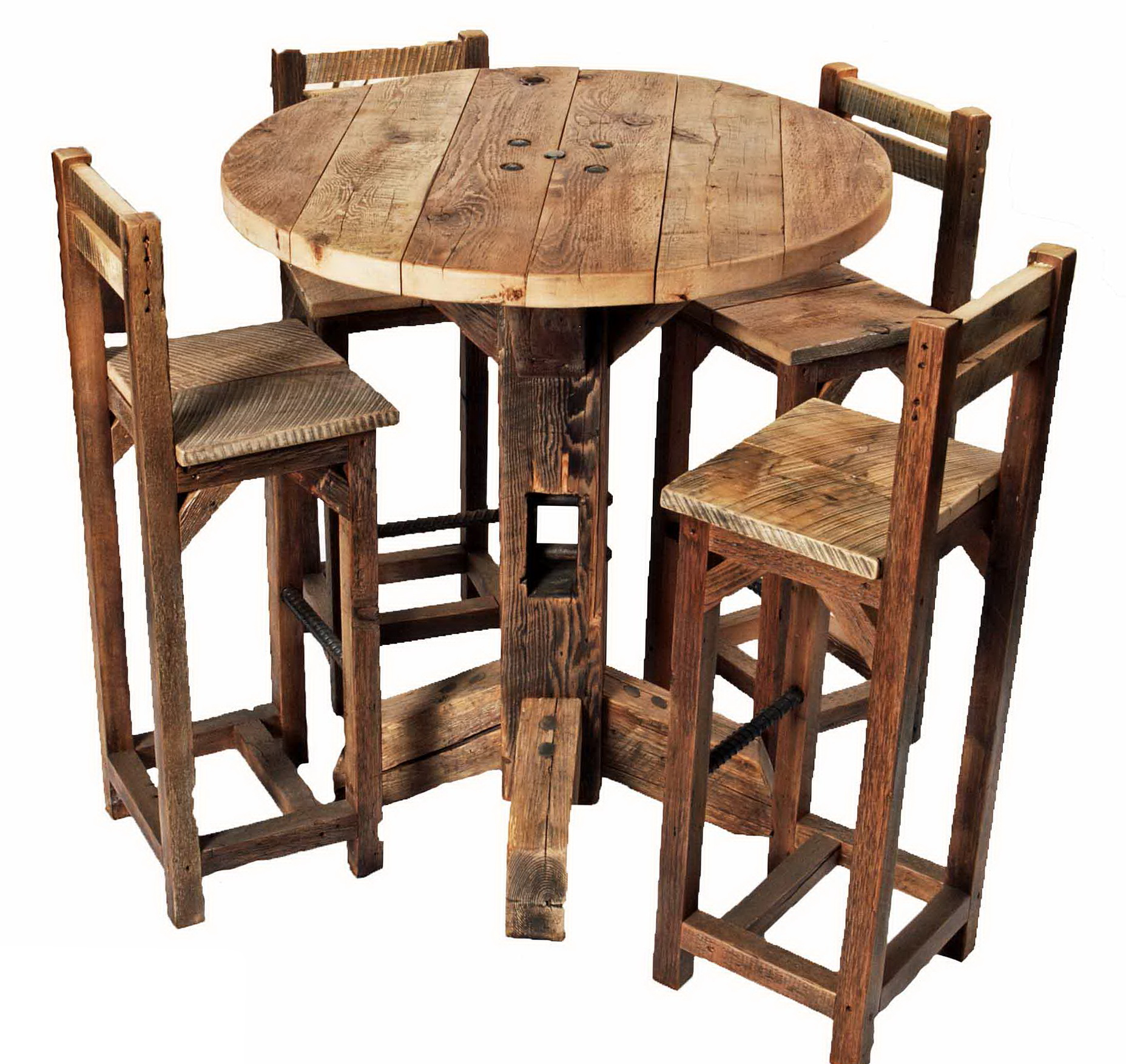 Rustic Pub Table And Chairs