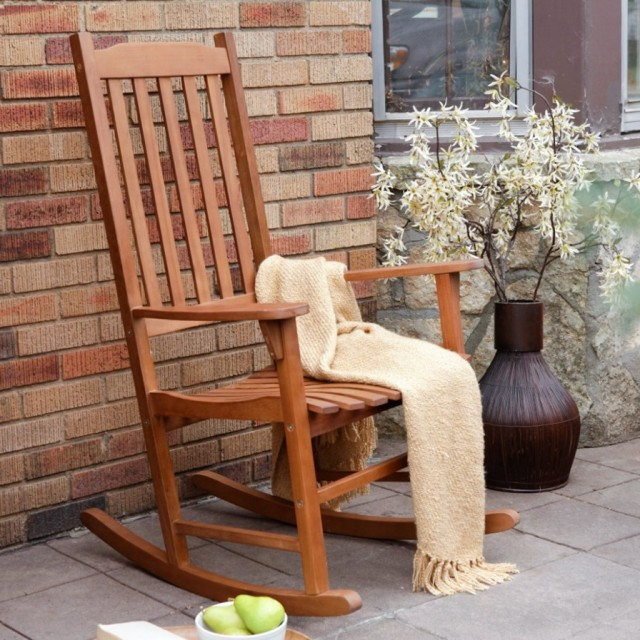 Rustic Wooden Rocking Chairs