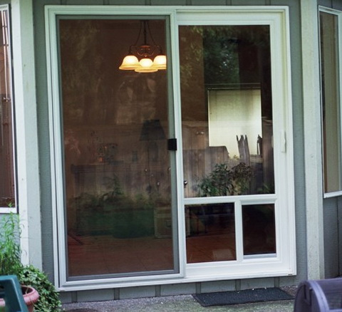 Sliding Glass Doors With Doggie Door Built In
