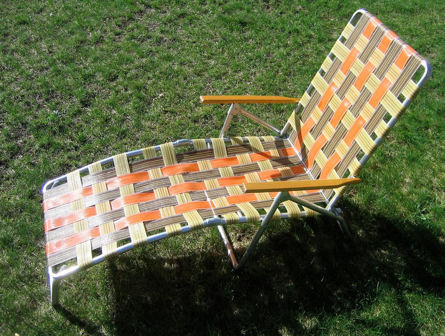 Vintage Patio Chaise Lounge