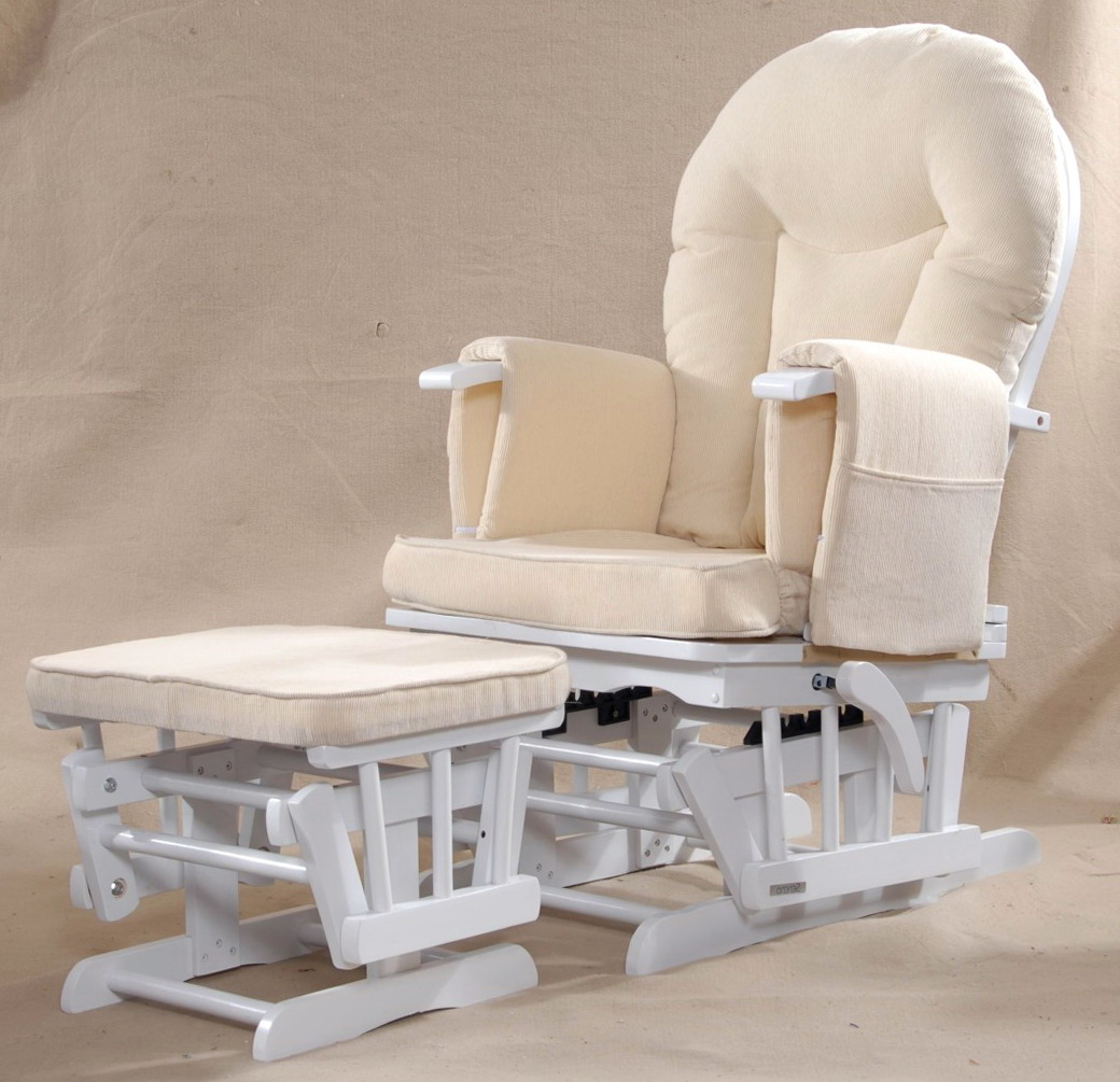 White Glider Rocking Chair