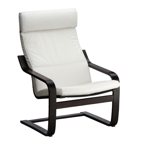 White Leather Ikea Office Chair