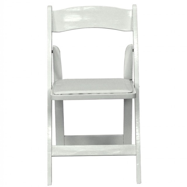 White Padded Folding Chairs