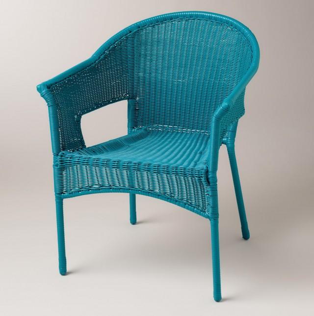 Wicker Chair Cushions Blue