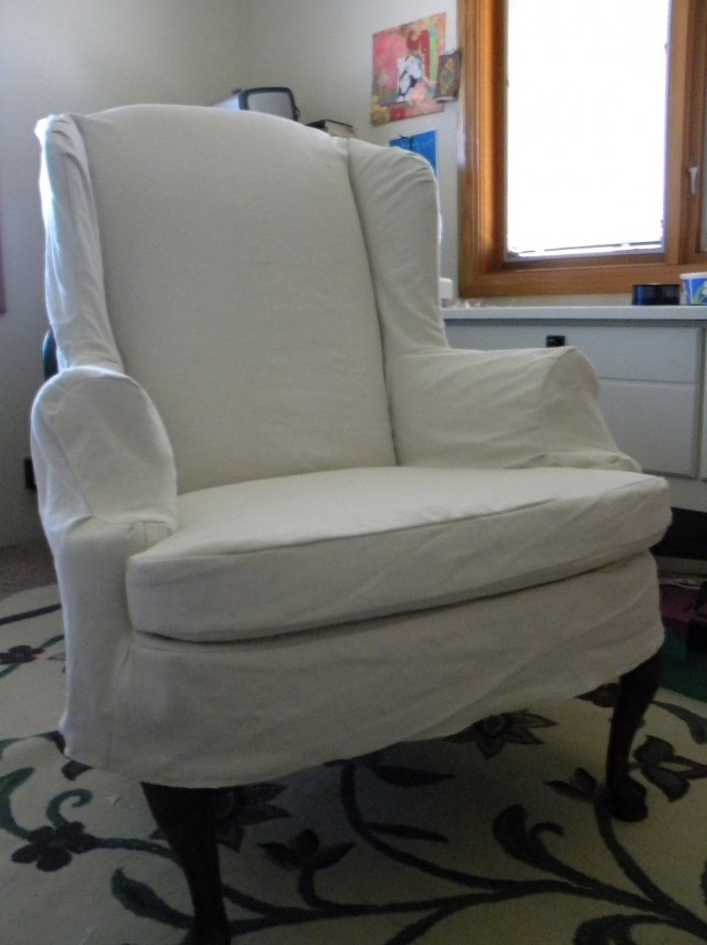 Wing Back Chair Slip Covers