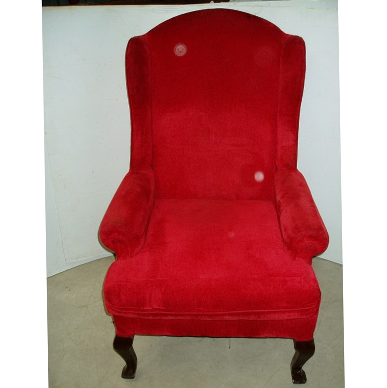 Wing Chair Slipcover Red